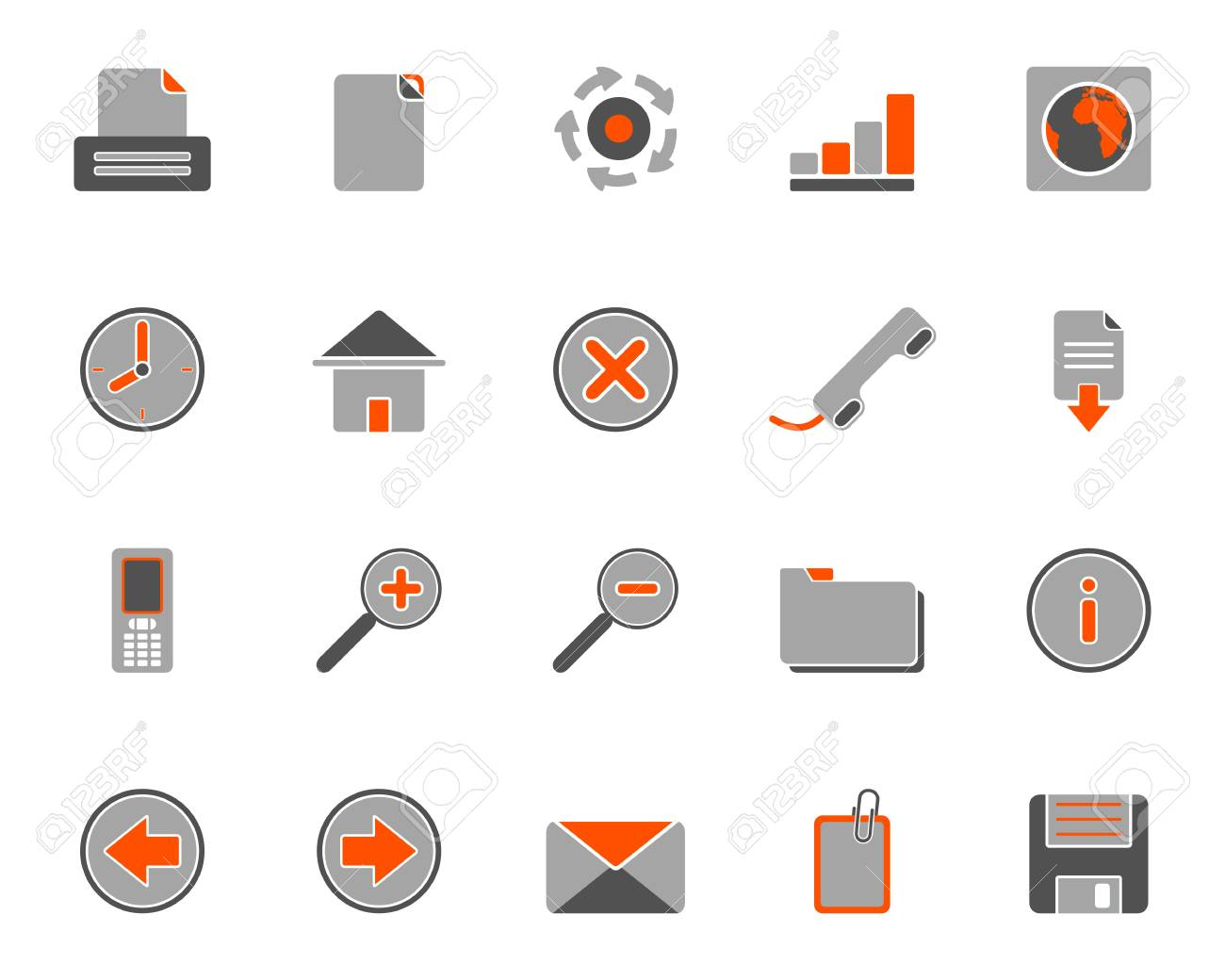Web icons Stock Vector - 8977701