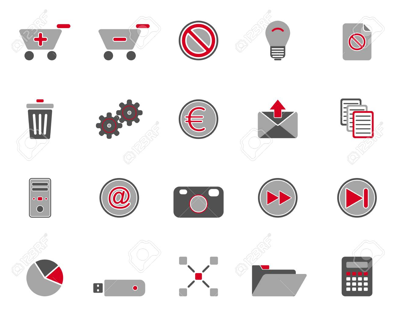 Web icons Stock Vector - 9079492