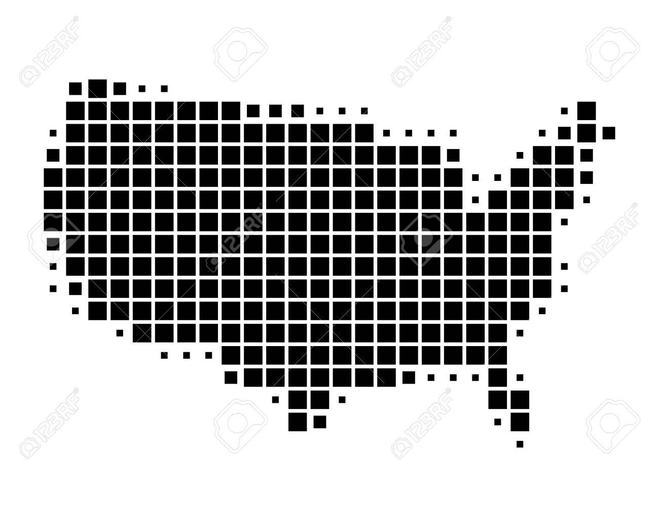 Us Map Stock Vector Illustration And Royalty Free Us Map - White vector map of the us