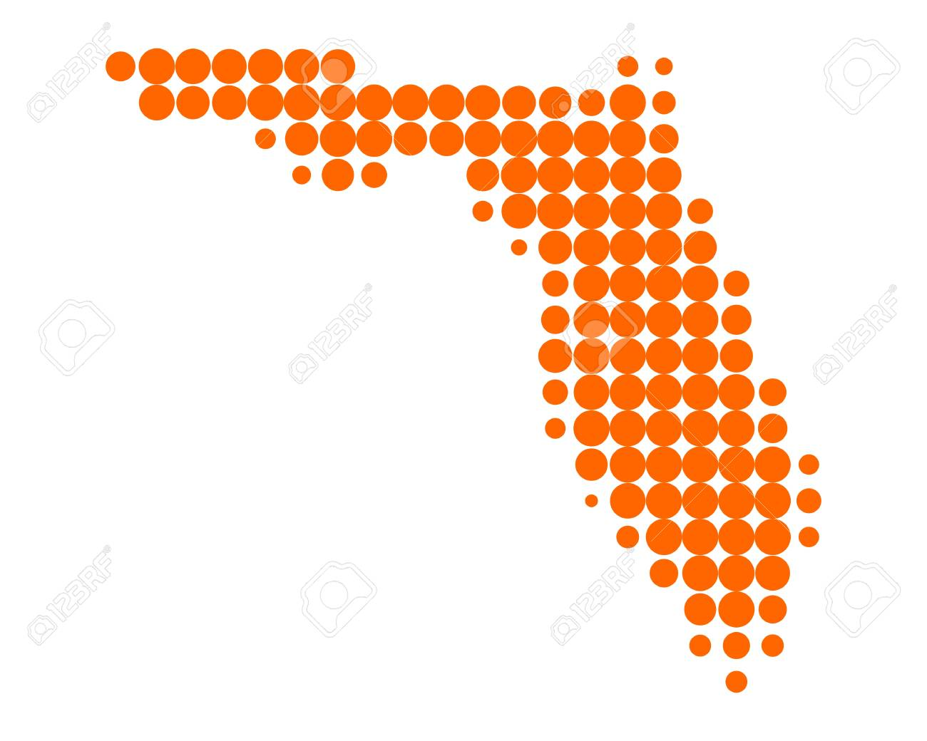 Map of Florida Stock Vector - 10291101