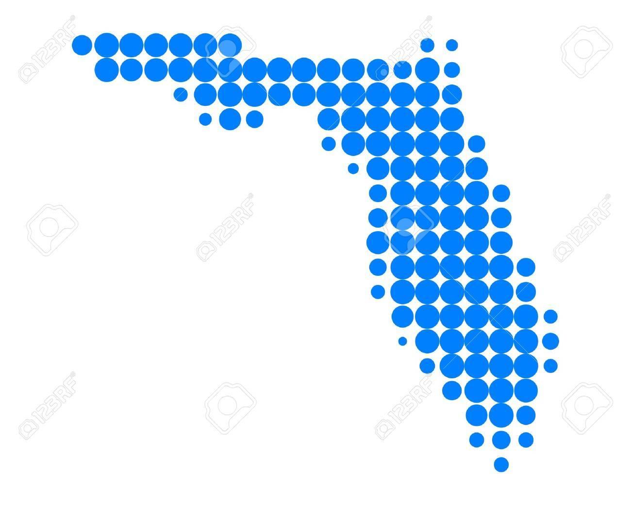 Map of Florida Stock Vector - 10390256