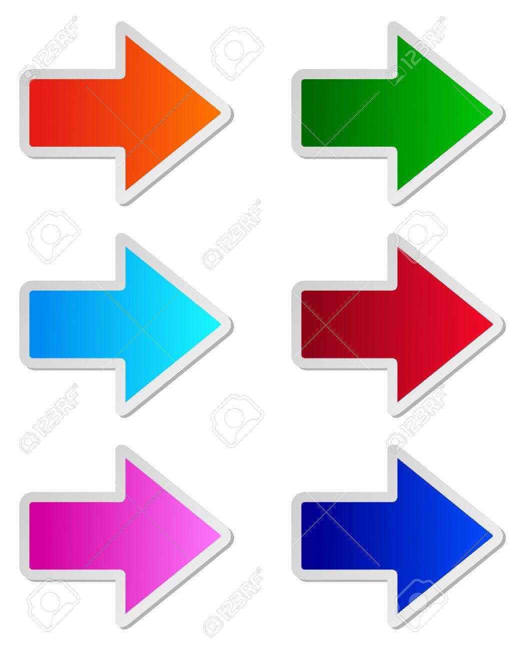 Glossy arrows - 12796312