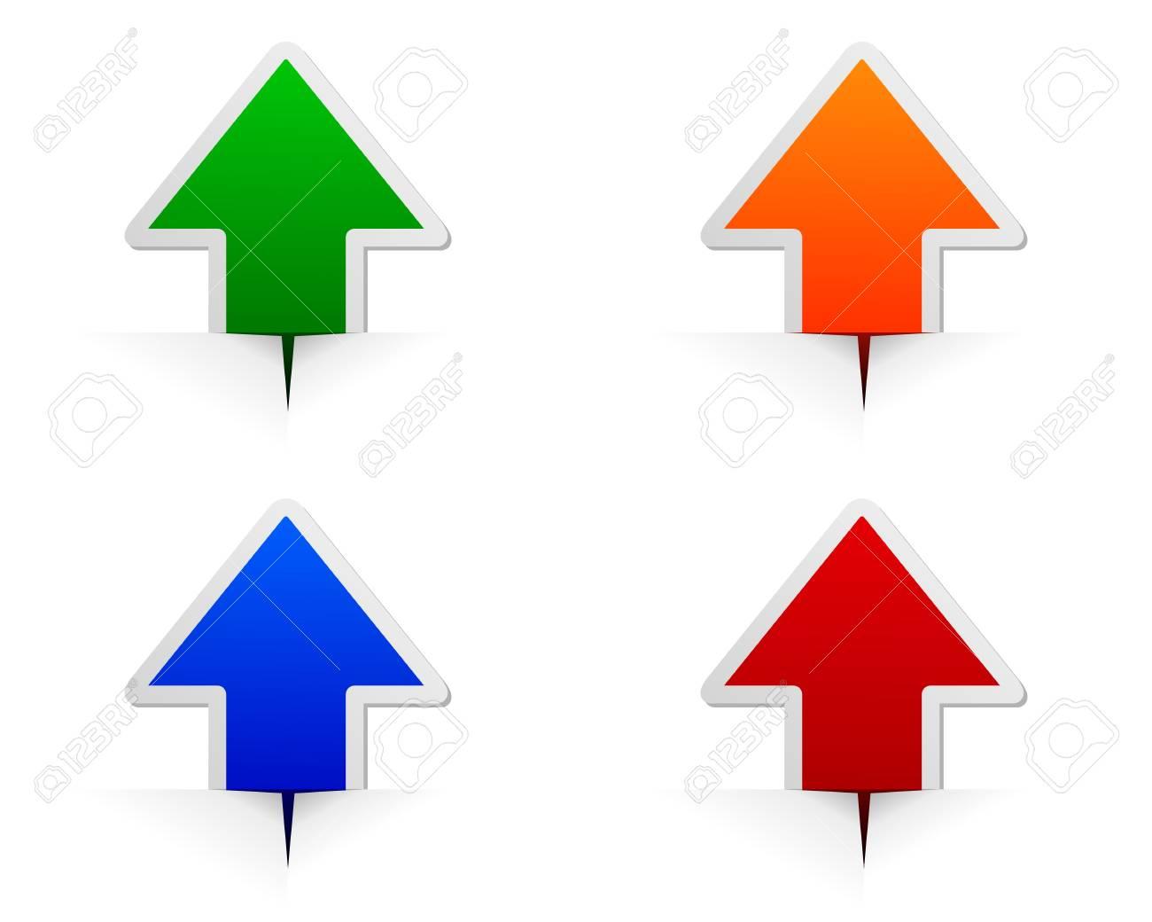 Glossy arrows - 12932843