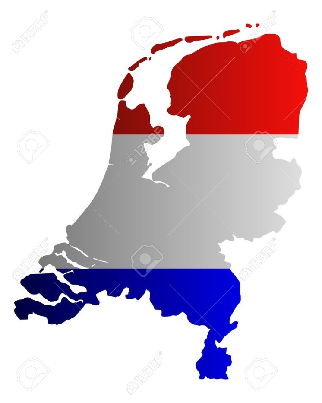Map and flag of the Netherlands - 12932842