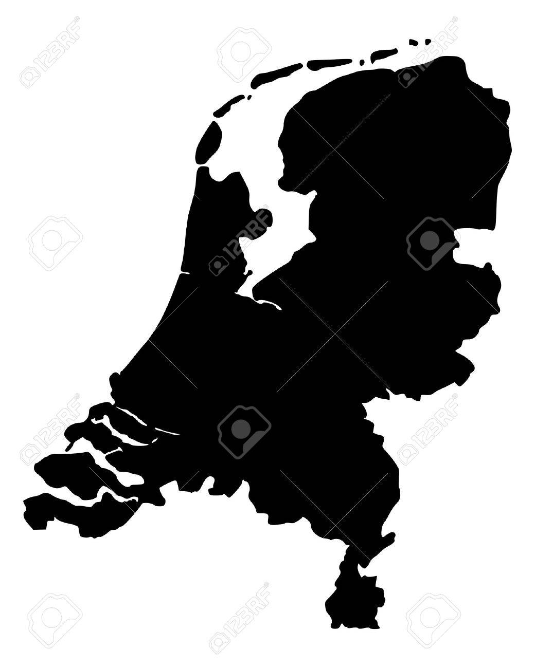 Map of the Netherlands Stock Vector - 13248424