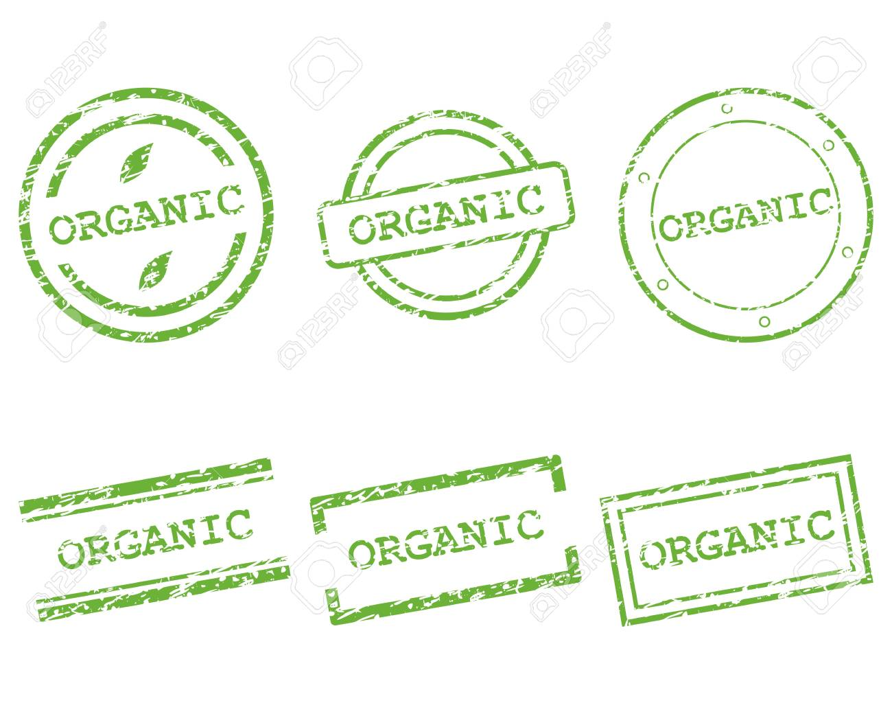 Organic stamp Stock Vector - 13248429