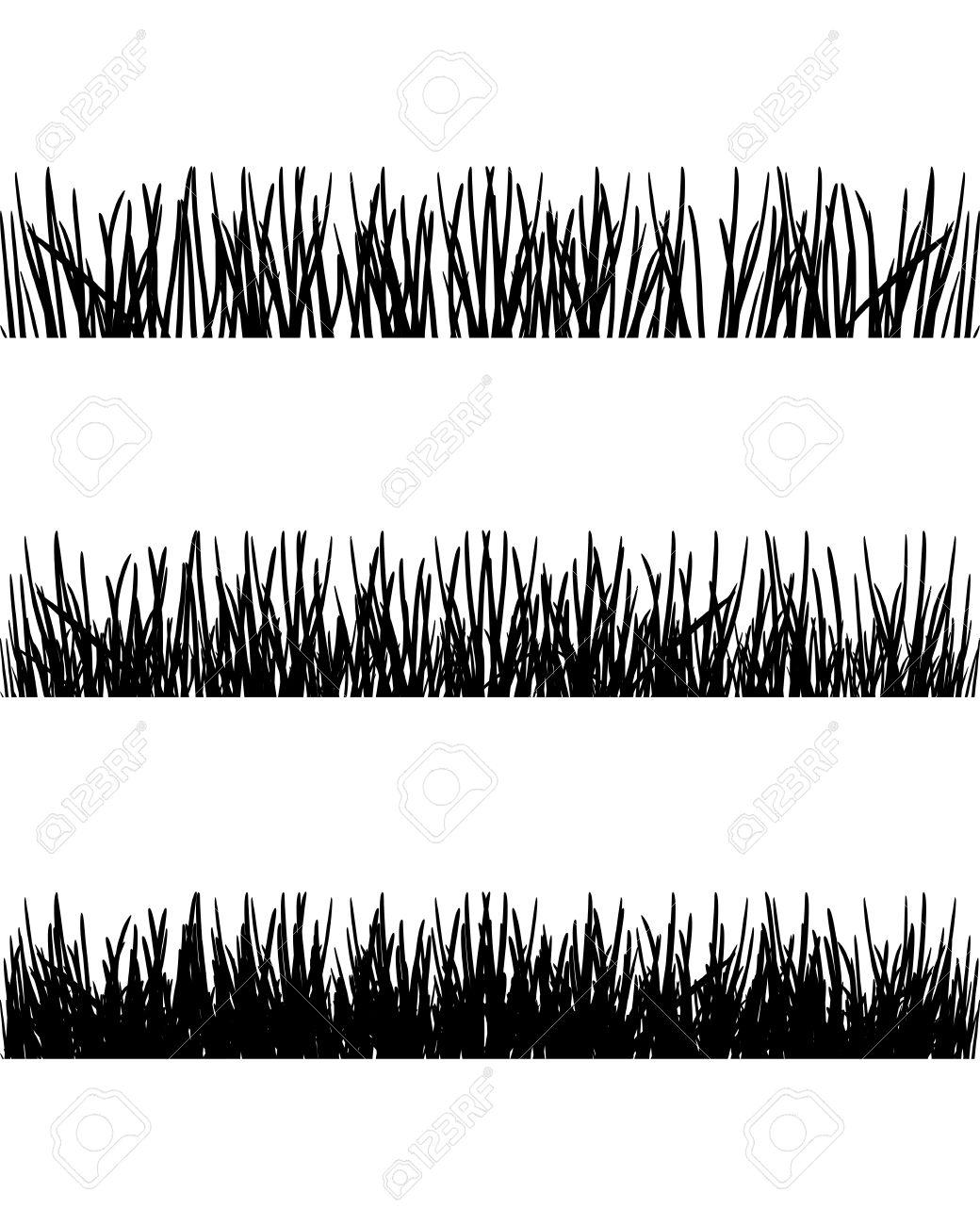 Grass Outline Vector grass silhouette  Grass