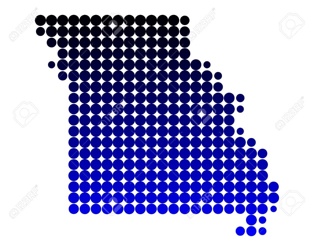 Map of Missouri Stock Vector - 13655277