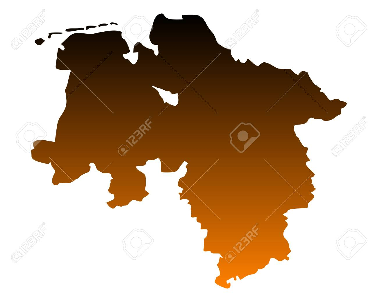 Map of Lower Saxony Stock Vector - 13840160