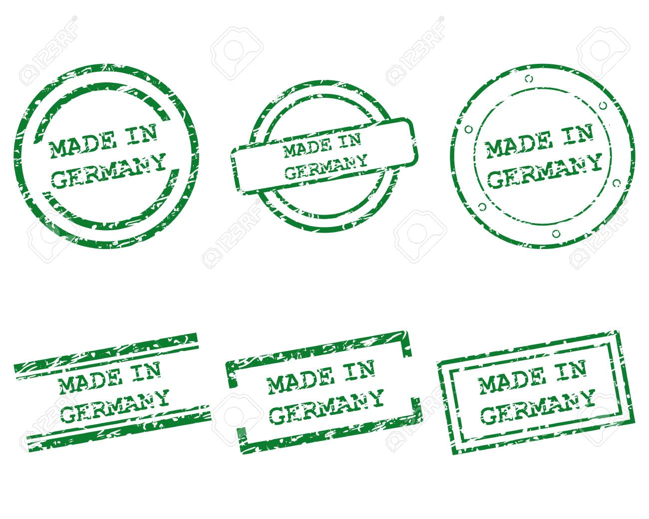 Made in Germany stamps Stock Vector - 13955971