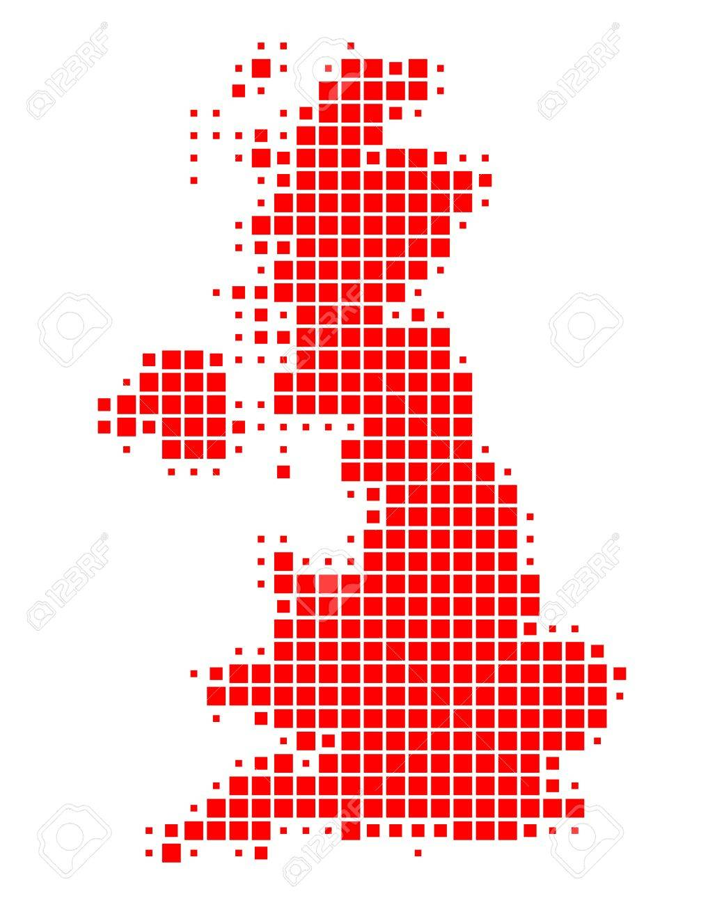 Map of Great Britain Stock Vector - 14239032