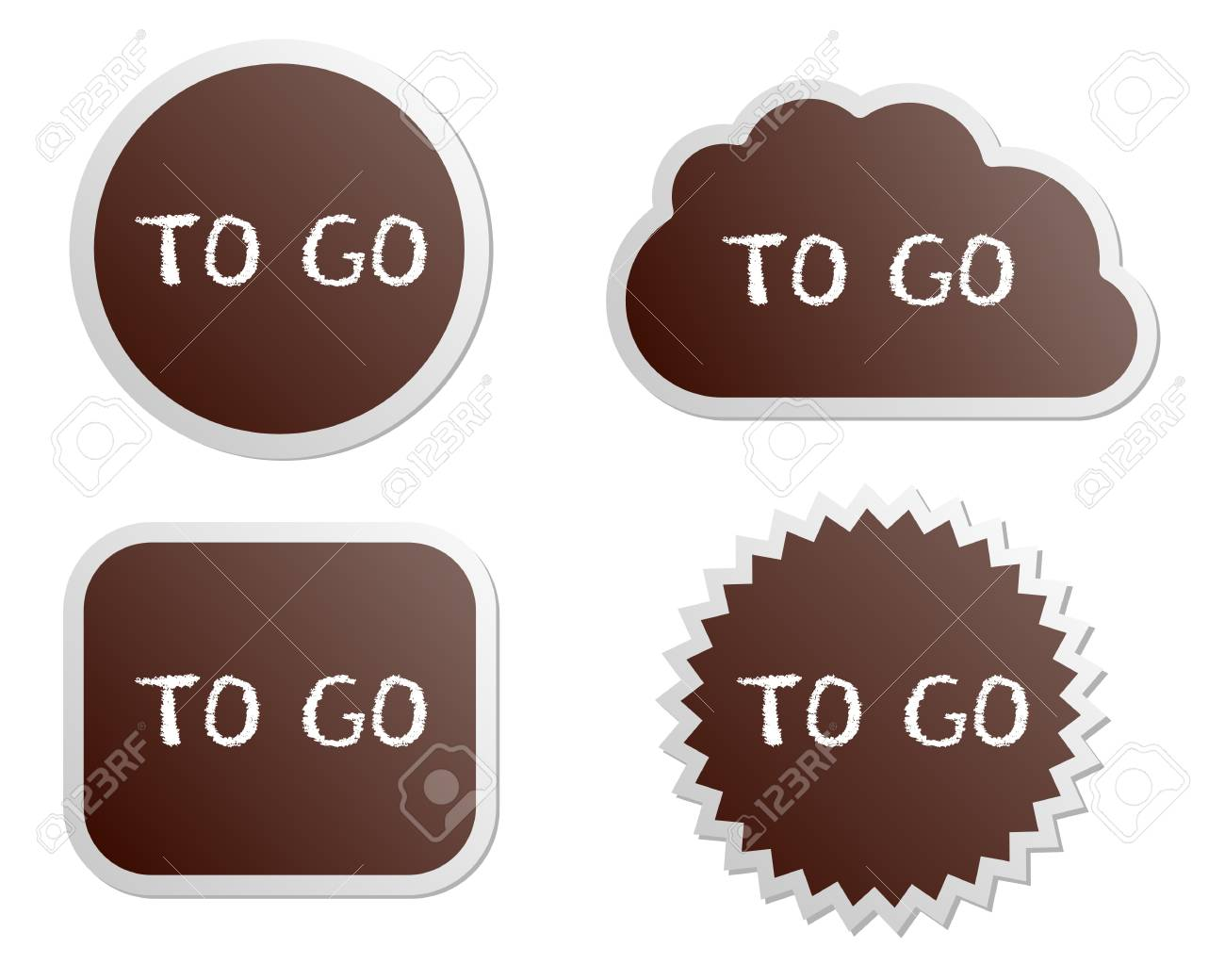 To go buttons Stock Vector - 14252562