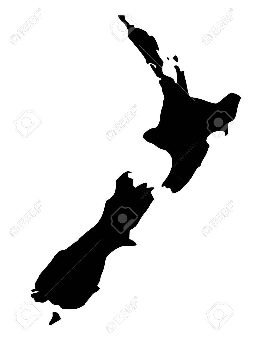 Map of New Zealand - 14309704
