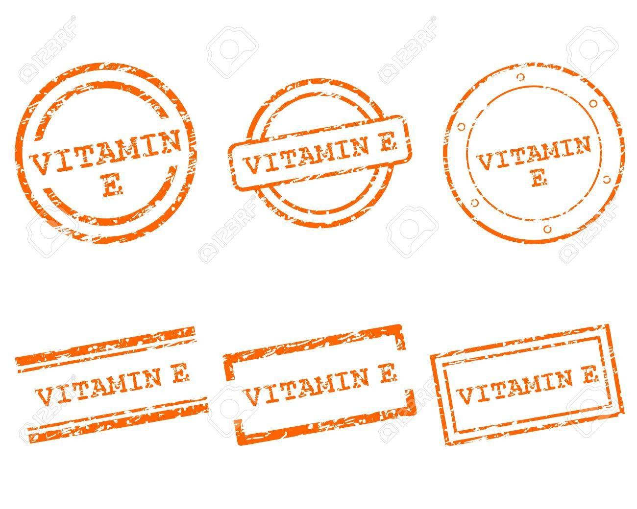 Vitamin E stamps Stock Vector - 14586343