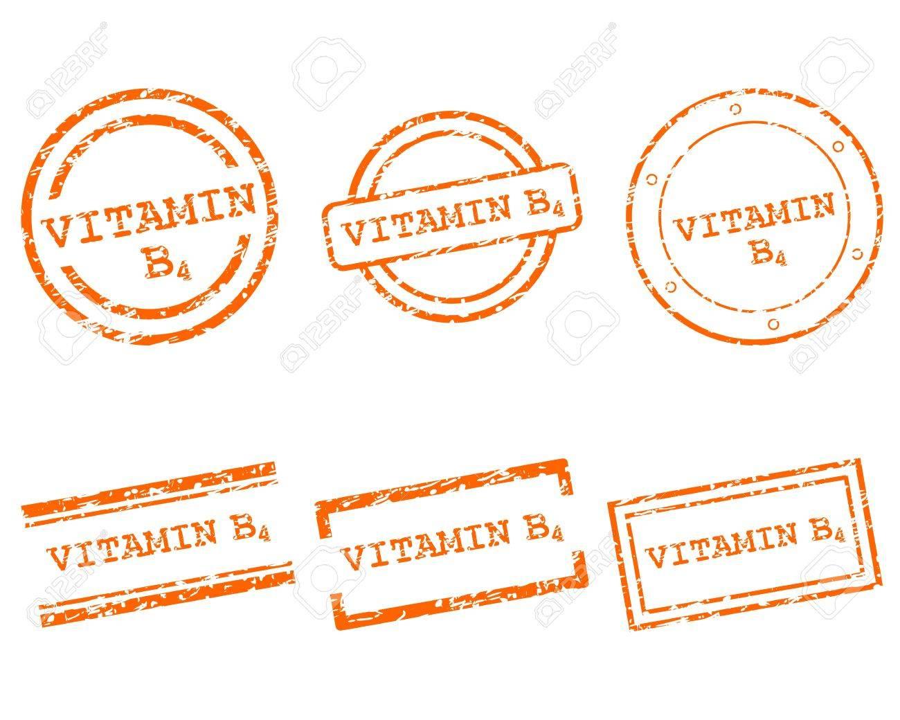 Vitamin B4 stamps - 14906242