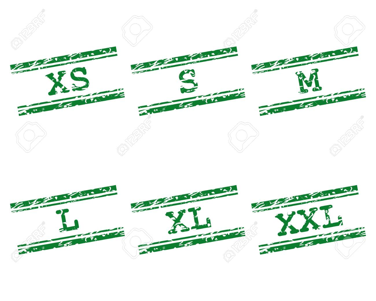 Clothing size stamps Stock Vector - 17204003