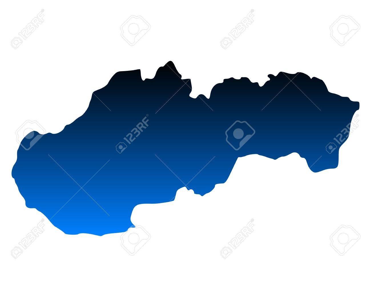 Map of Slovakia Stock Vector - 17954010