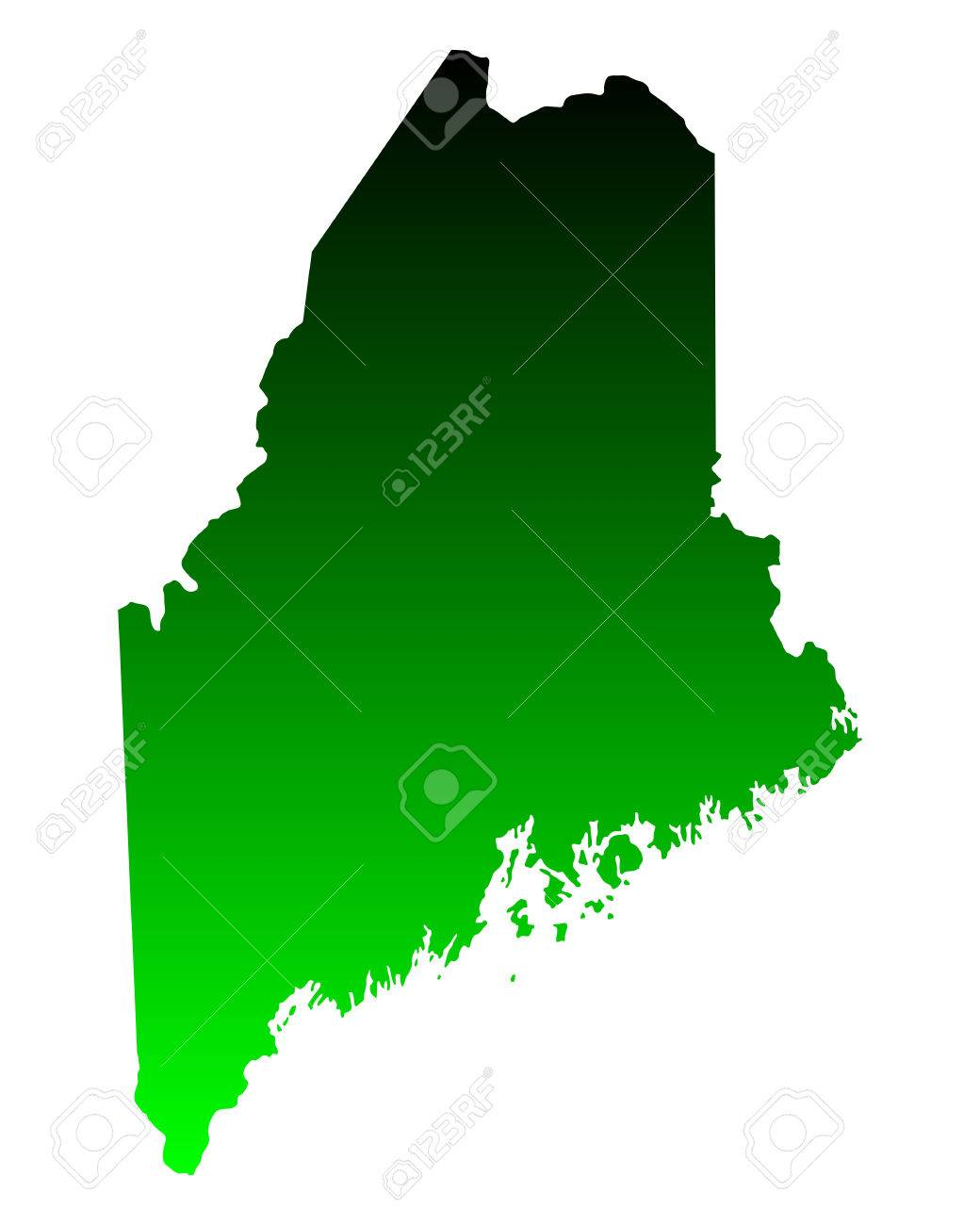 Map of Maine - 28402105