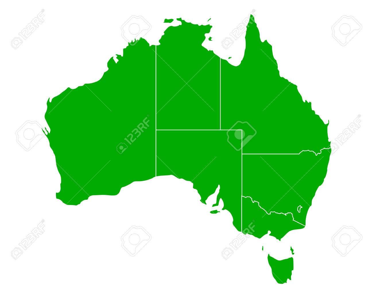 Map of Australia - 43573219