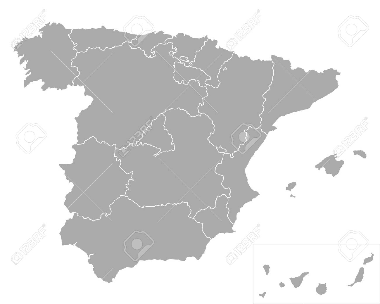 Map of Spain - 44081737