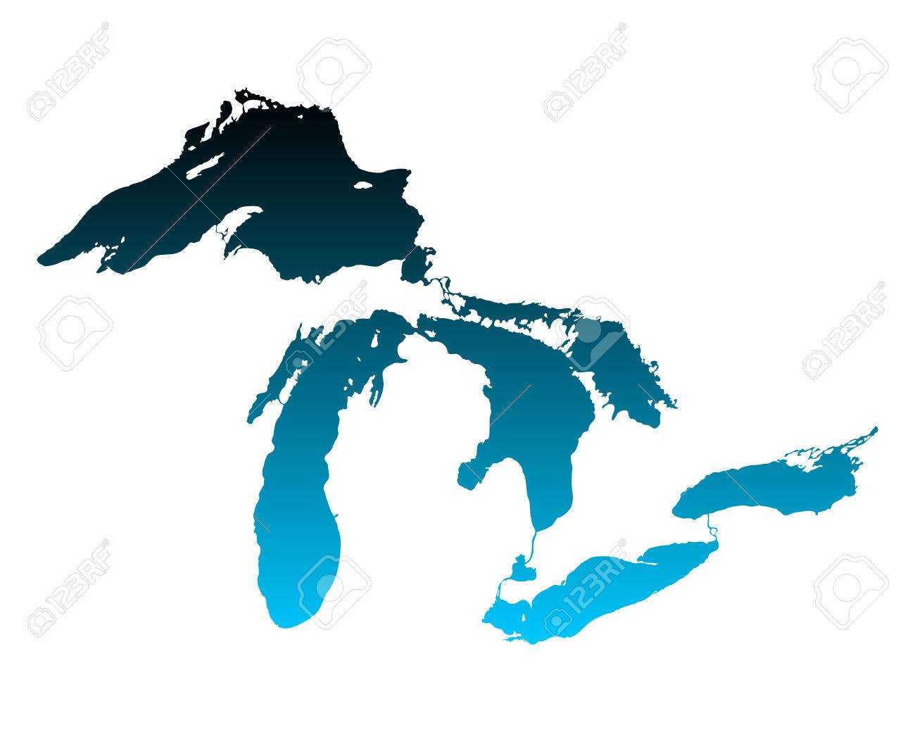 Map of Great Lakes - 46752030