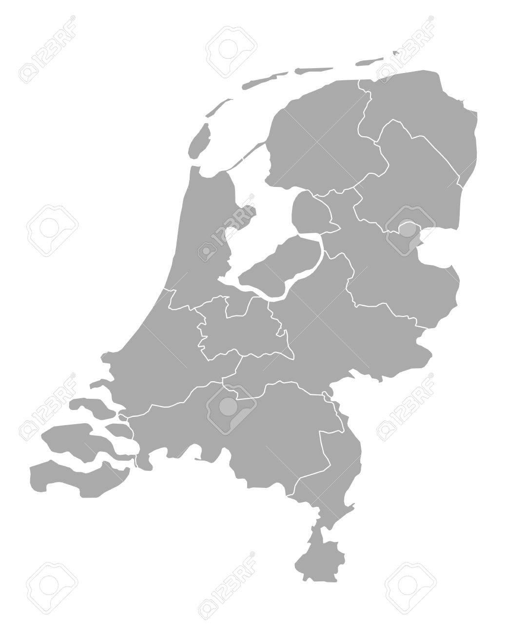 Map of thr Netherlands - 48108119