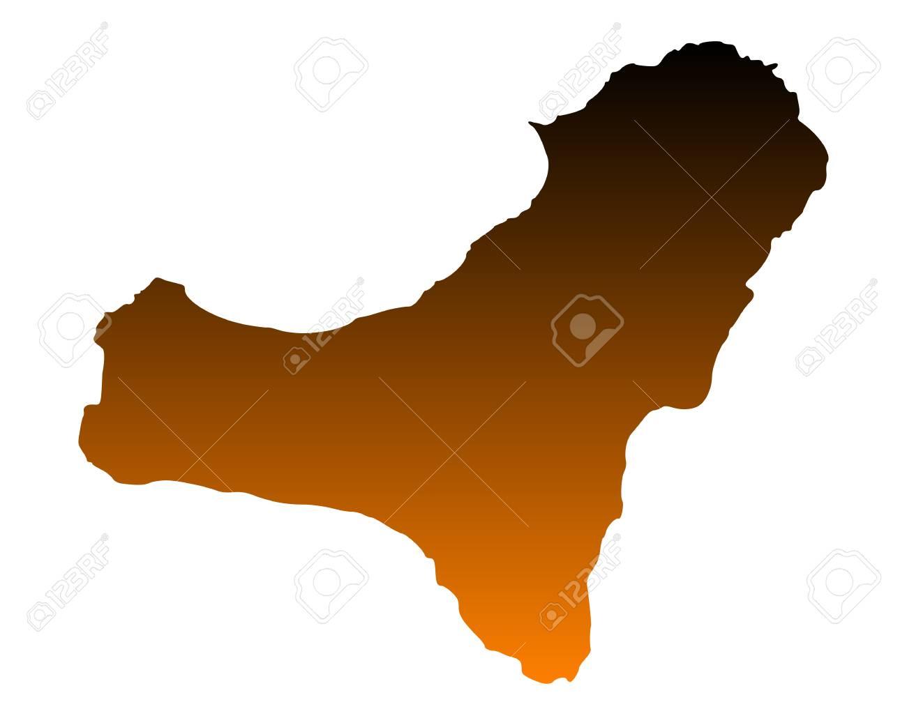 Mapa De El Hierro.Mapa De El Hierro
