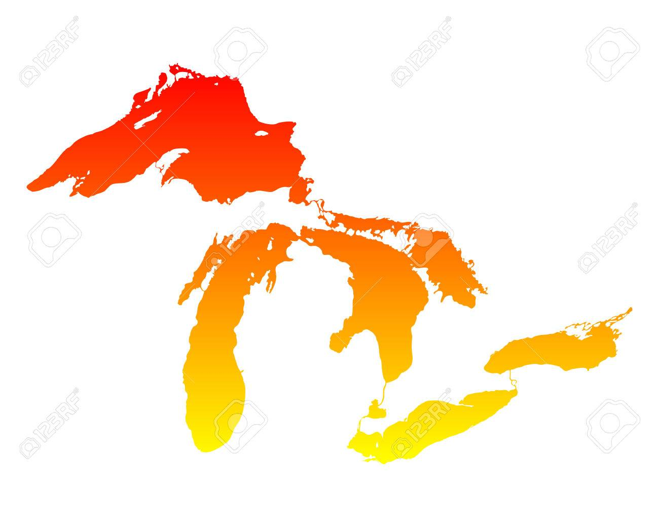 map of great lakes royalty free cliparts vectors and stock