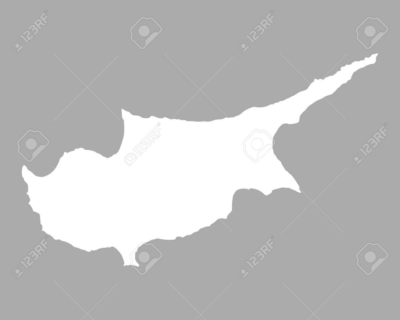 Map of Cyprus Stock Vector 55127533