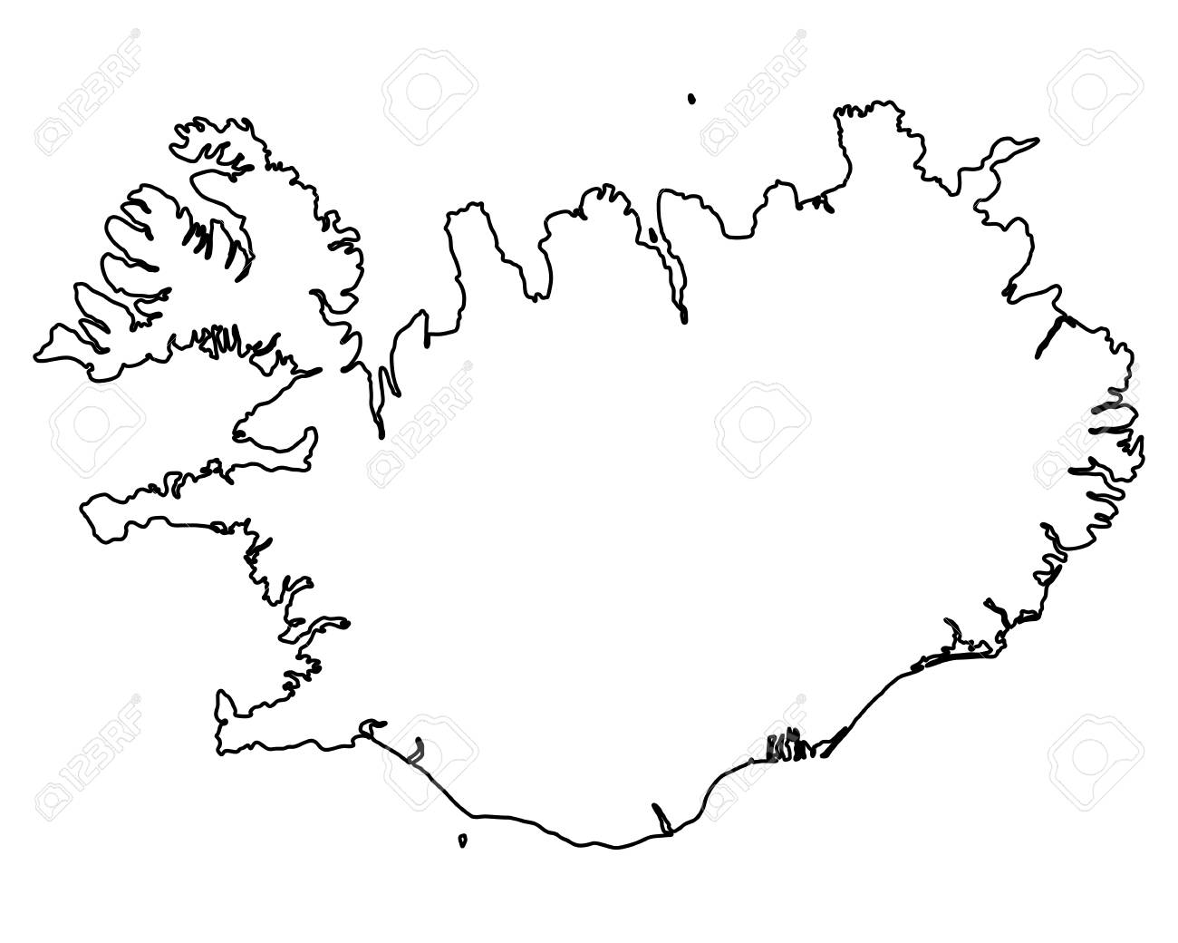 Map of Iceland - 76170240