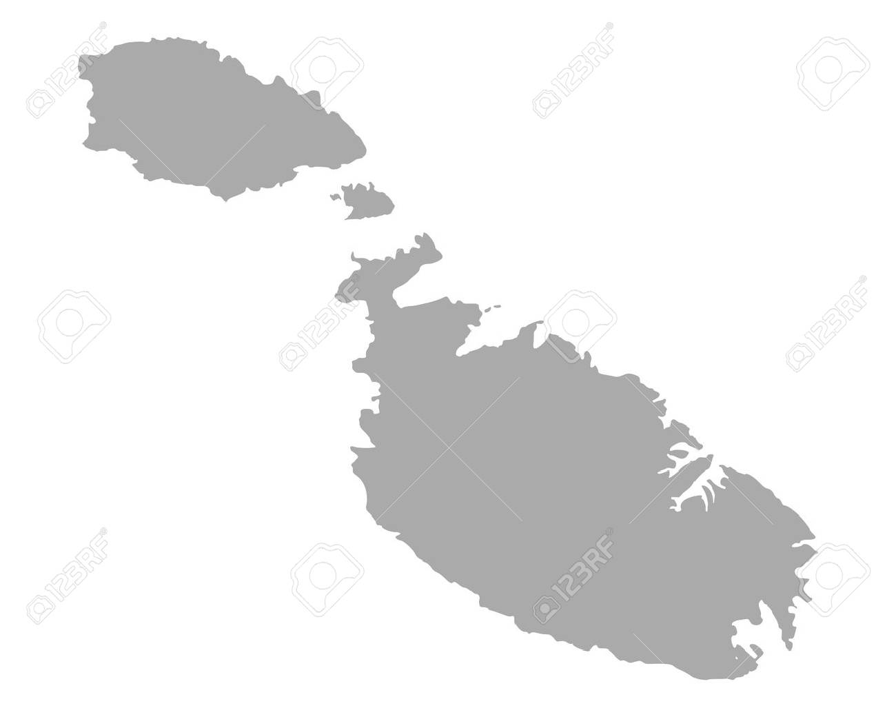 Map of Malta on white background, vector illustration. - 89013627
