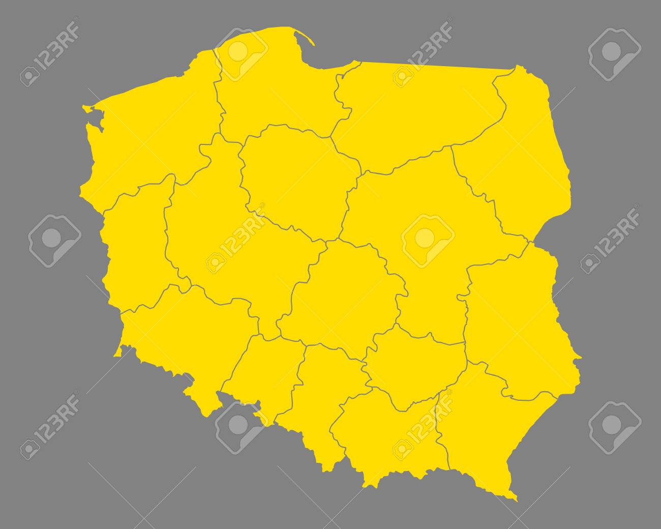 Map of Poland - 89785599