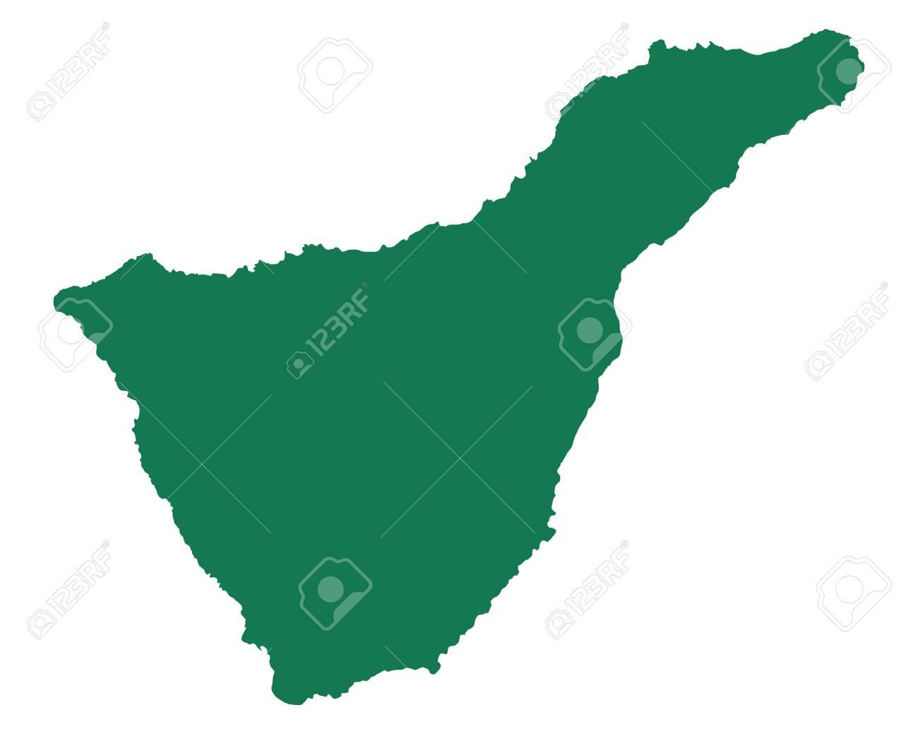 Karte Von Teneriffa.Stock Photo