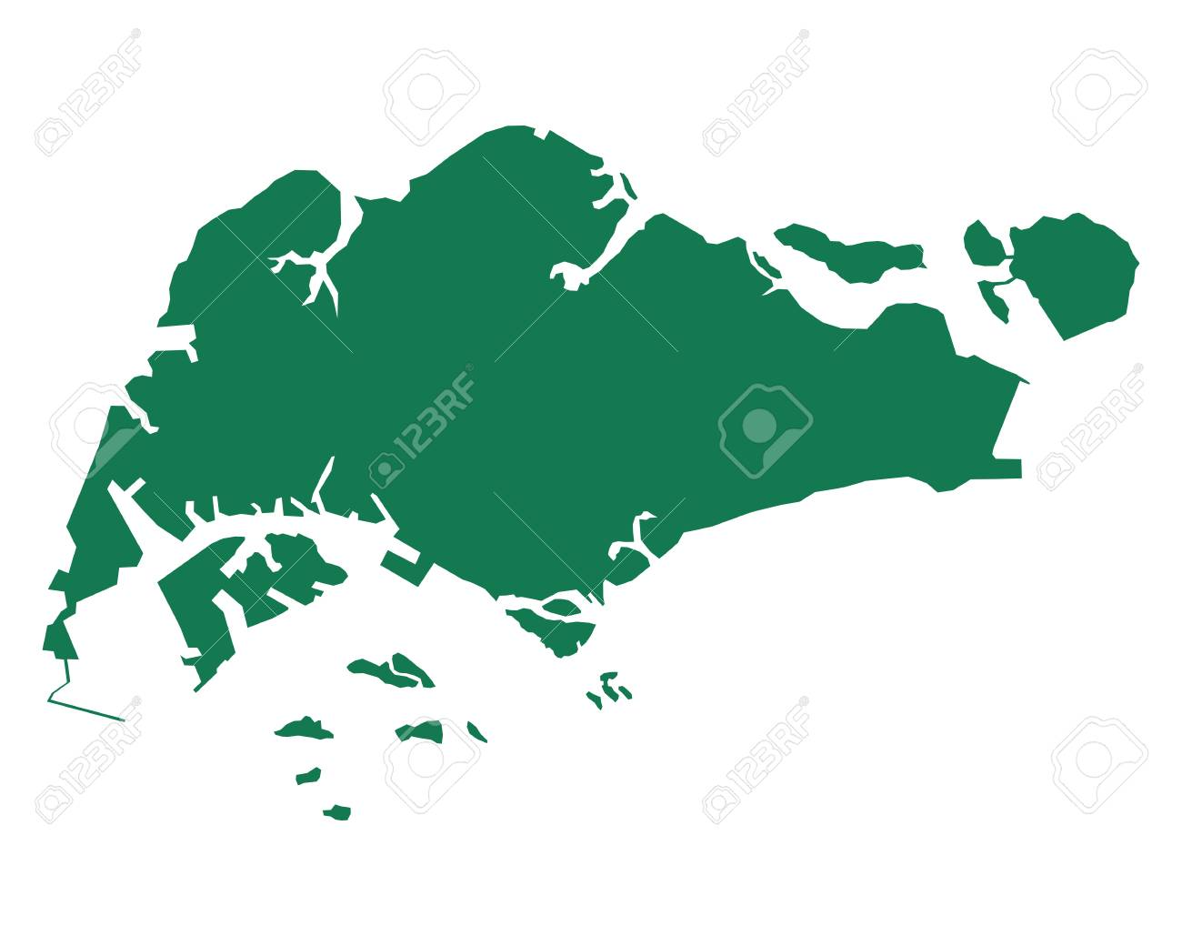Map Of Singapore Royalty Free Cliparts, Vectors, And Stock ...