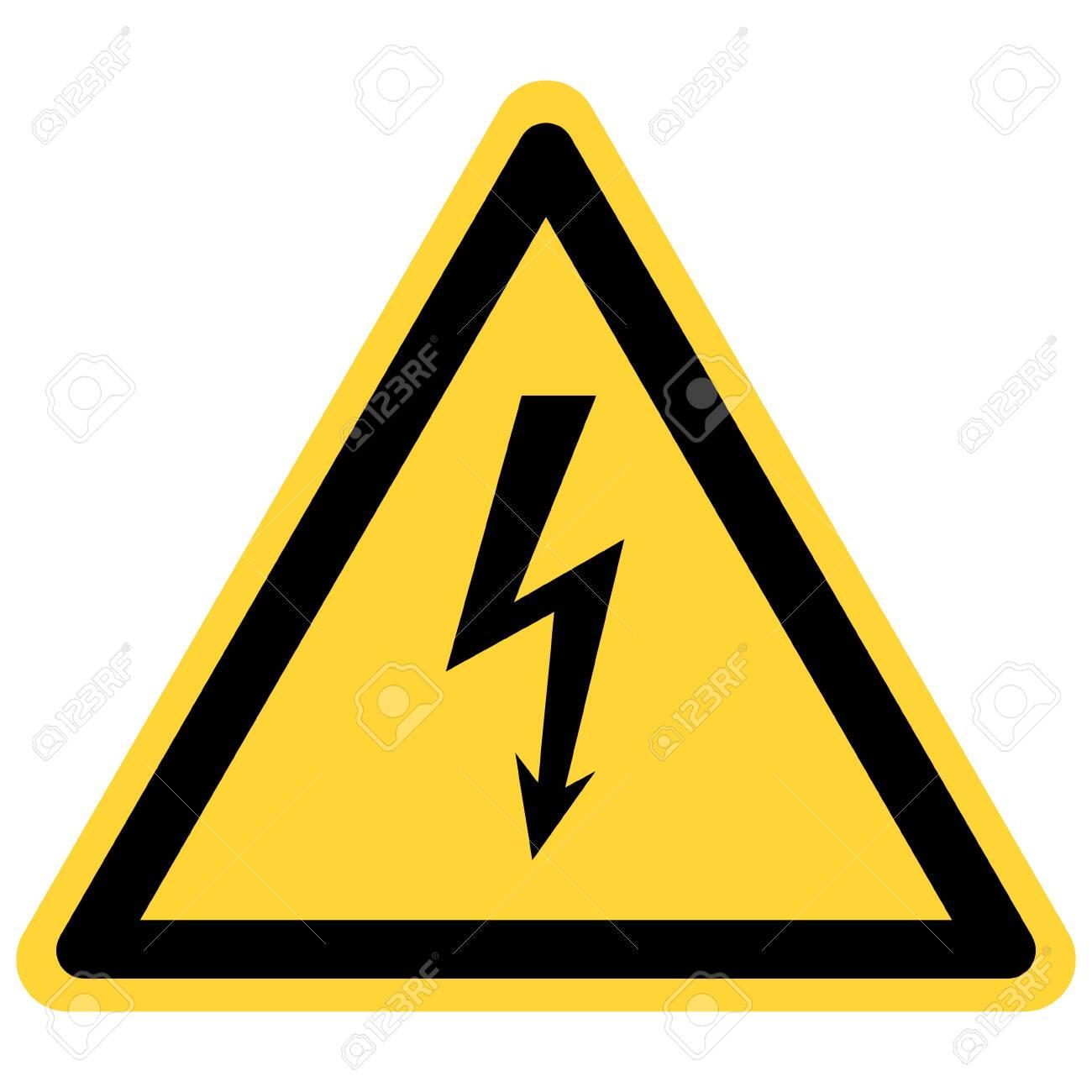 Lightning and danger sign - 132858358