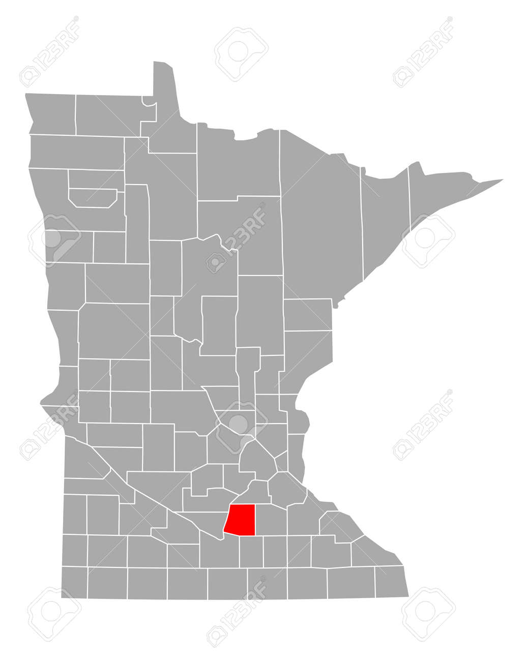 Map of Le Sueur in Minnesota - 150965664