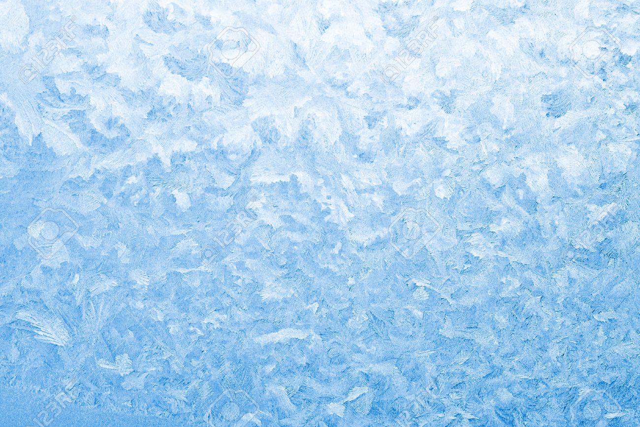 Light blue frozen window glass background Stock Photo - 6147688