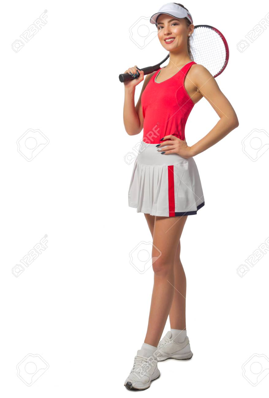 Young Woman Tennis Player Isolated Stock Photo Picture And Royalty Free Image Image 97177333