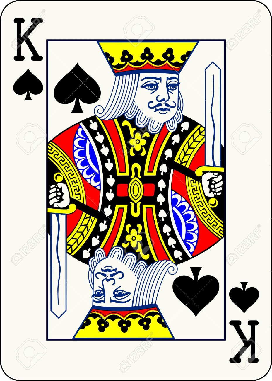 king of spade card  King of Spades, individual playing card - An isolated vector..