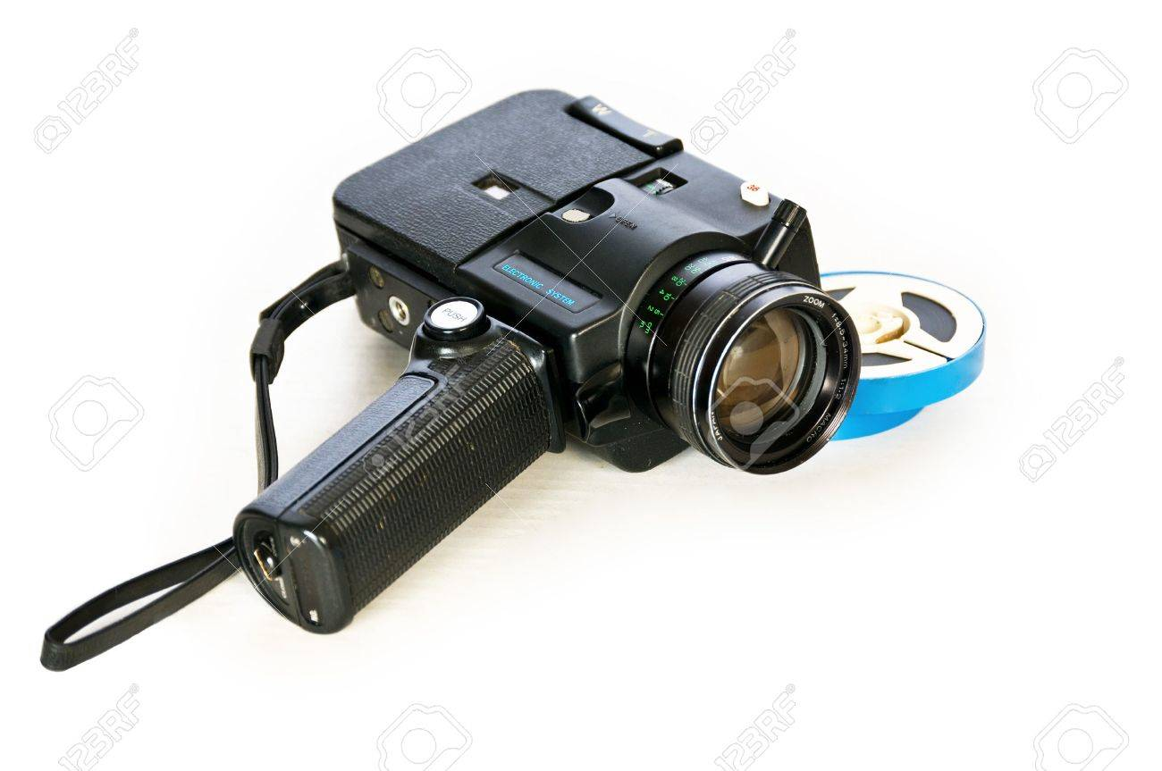 Super 8 movie camera and developed film