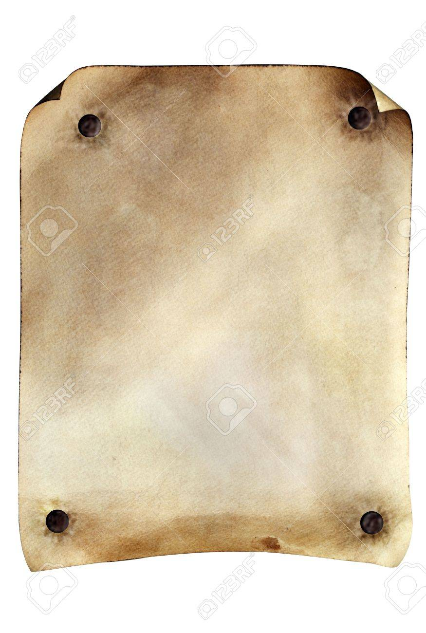 Grunge weathered parchment made to resemble an old wanted poster from the old west. Stock Photo - 6116912