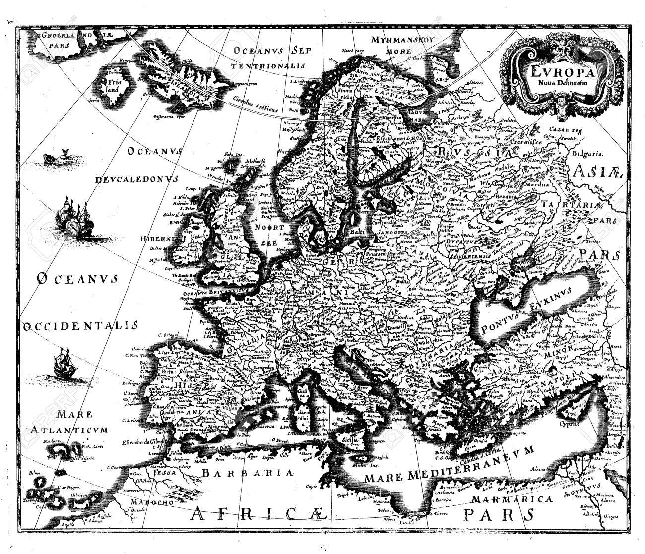 Frankfurt Karte Europa.Stock Photo