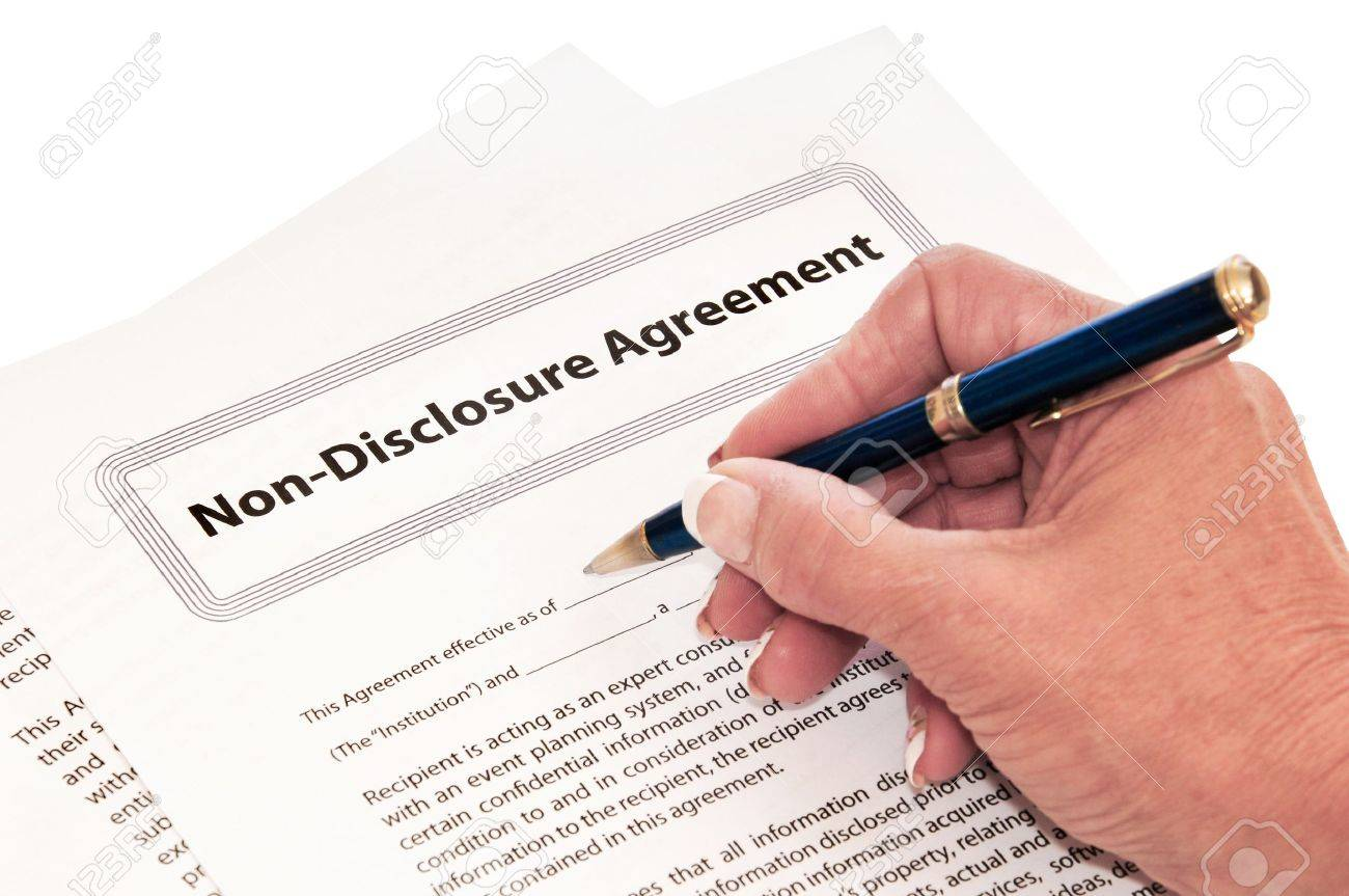 Confidentiality Agreement For Protection Of Company Secrets. Stock ...