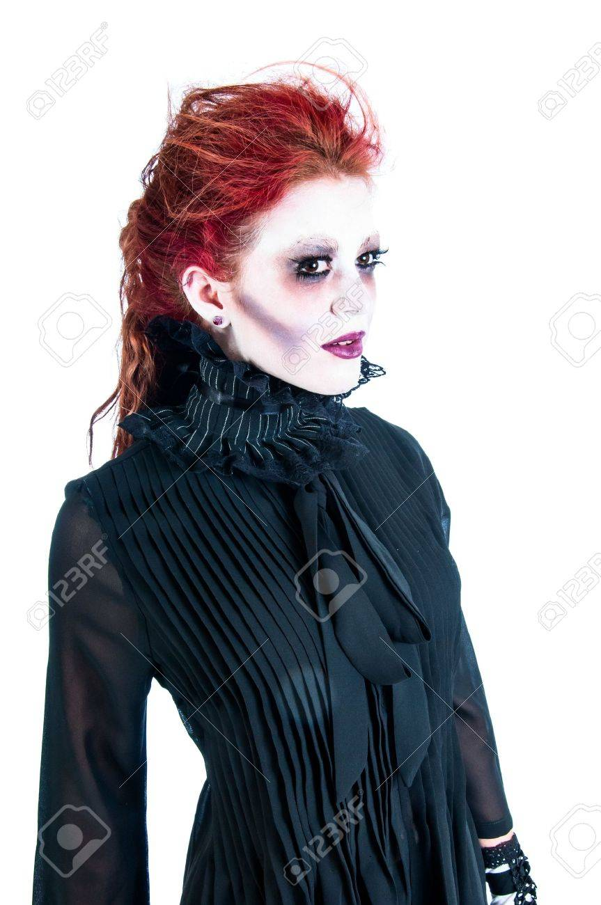 Victorian Ghost Of A Pretty Young Woman With Red Hair Stock Photo ... 5fe0fb765