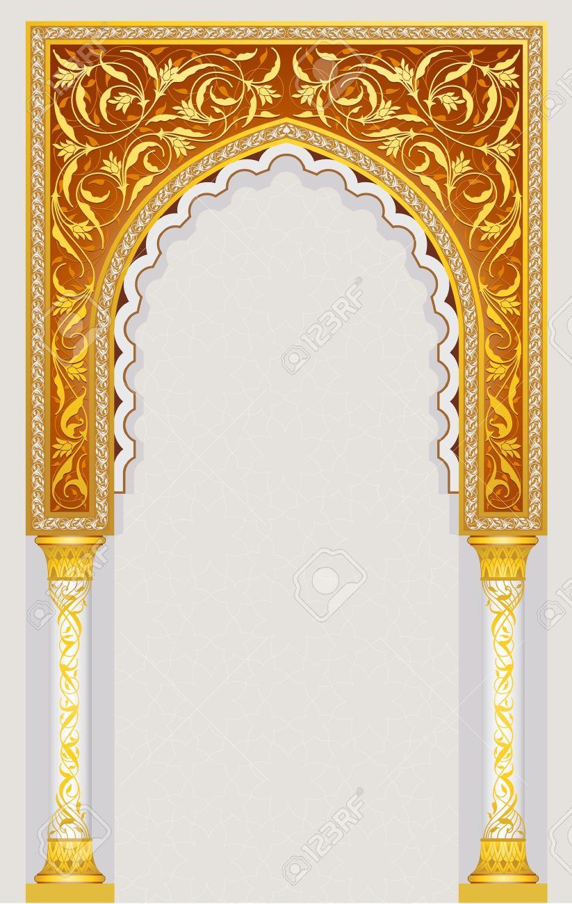 Arch design high detailed islamic arch design in vector illustration eps 10