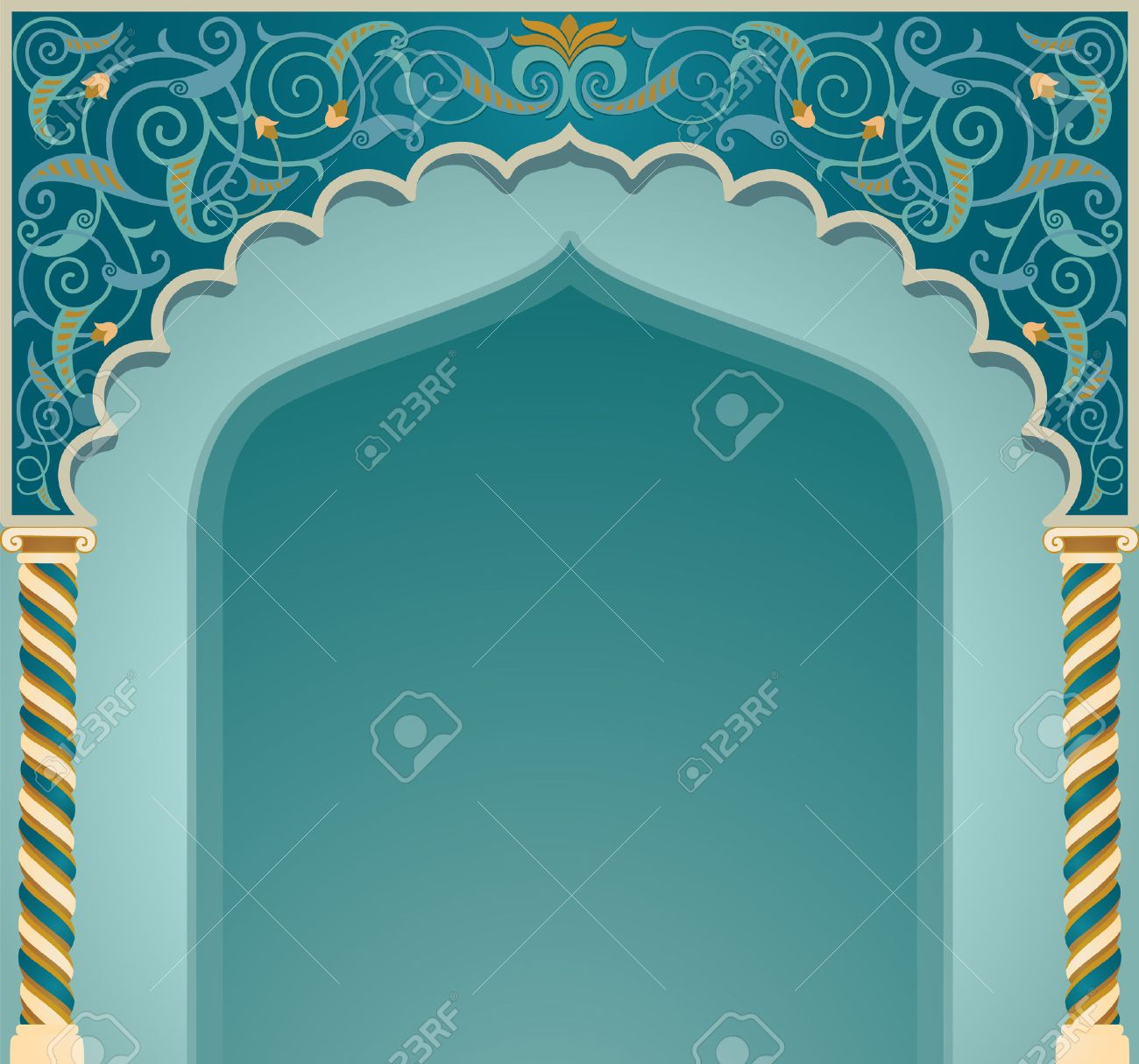 Vector vector illustration if islamic arch design