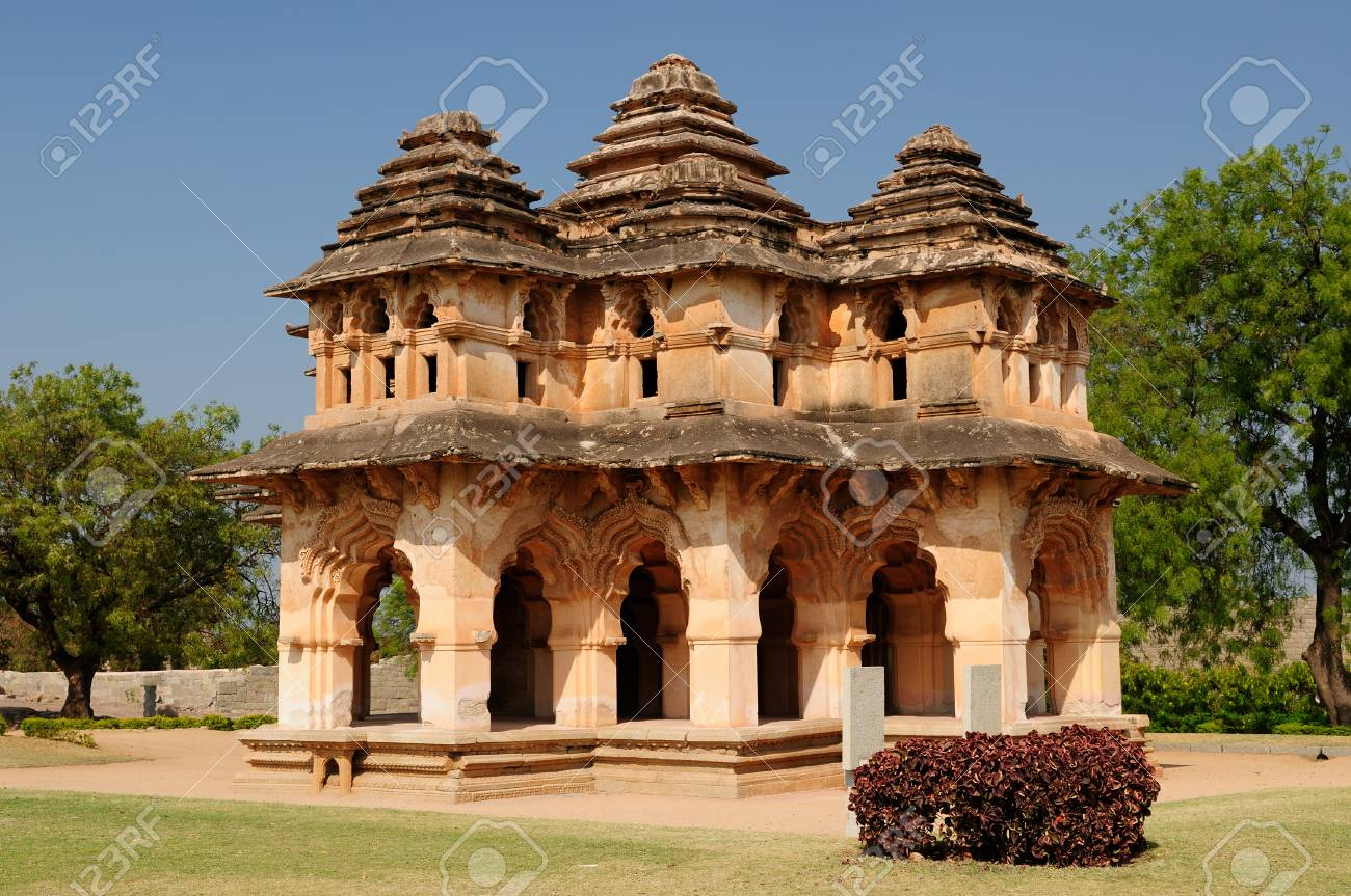 Indian ancient civilization in Hampi Indiaold travel architecture