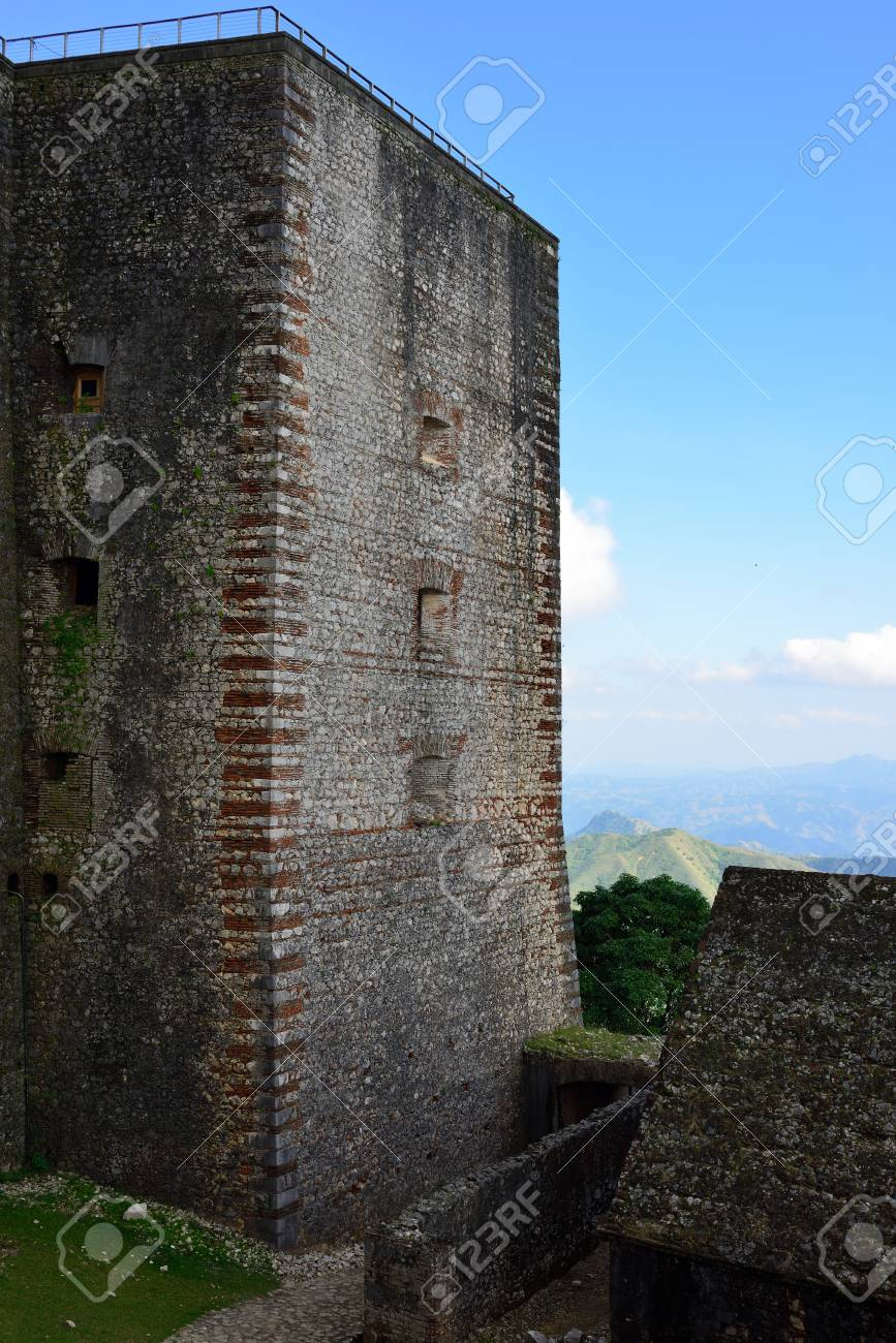 Mountain Range Over Haiti And The French Citadelle La Ferriere ...