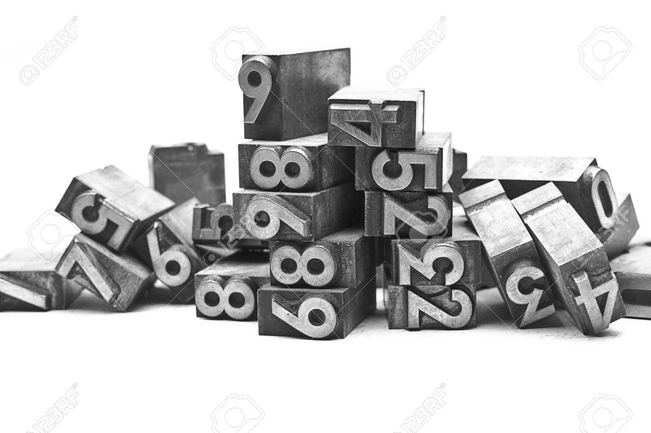 lead letter bunch of numbers Stock Photo - 11337691