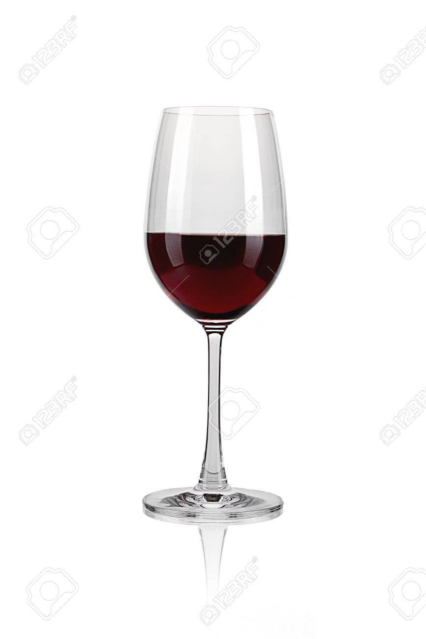 Red wine glass against a white background Stock Photo - 11393890